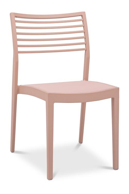 Madie Aluminium Dining Chair in Pink