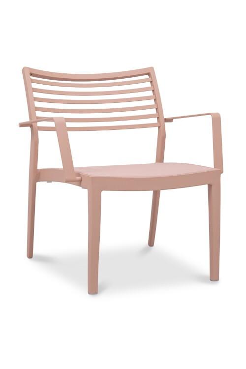 Madie Aluminium Armchair (Powder Pink)