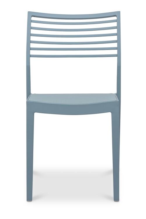 Madie Aluminium Dining Chair in Turquoise