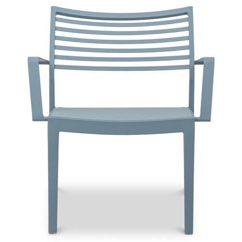 Madie Aluminium Armchair in Turquoise