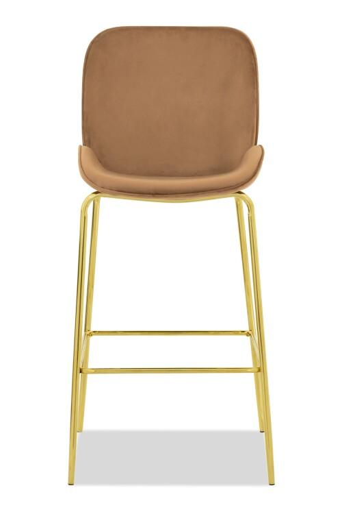 Beetle Bar Chair Replica in Velvet (Brown)