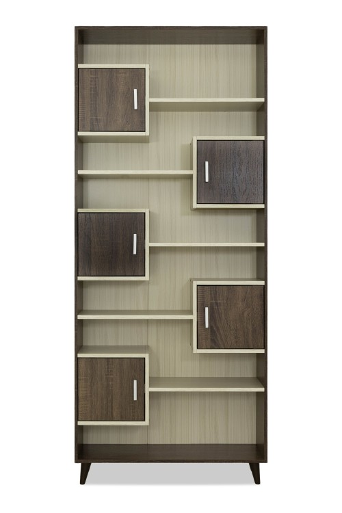 Elly Bookshelf in Walnut/White Wash