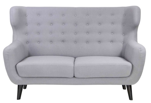 Replica WingBack Designer 2 Seater Sofa (Light Grey)