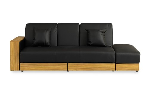 Sarai Storage Sofa Bed (PVC Black)