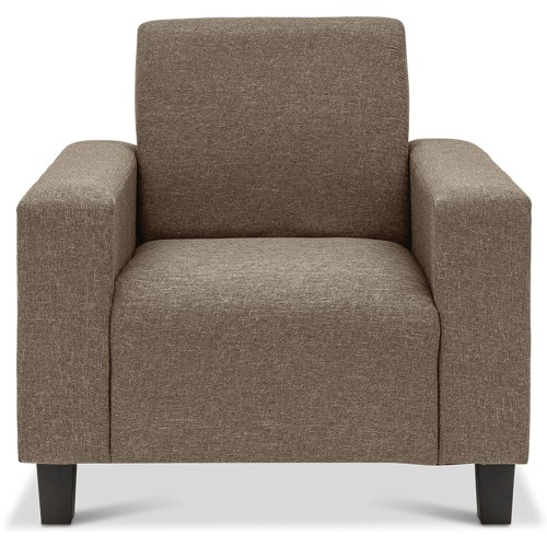 Ethna 1 Seater Fabric Sofa Brown