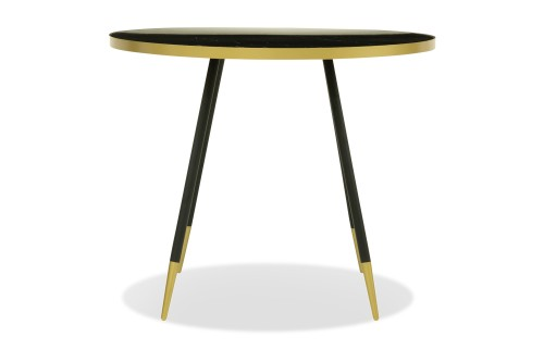 Bianco Dining Table in Black Marble