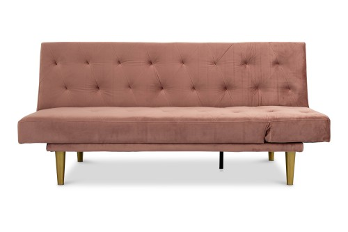 Jesse 3 Seater Sofa Bed (Rose)