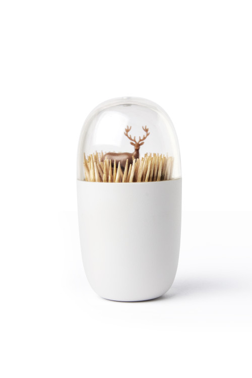 Deer Meadow Toothpick Holder (Brown) By Qualy