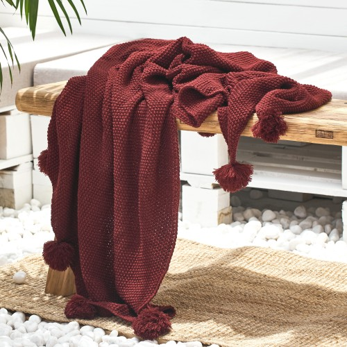 Zyta Throw (Maroon)
