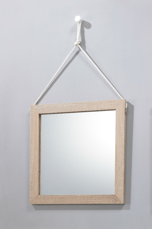 Lillo Hanging Mirror with Hang Rope-White