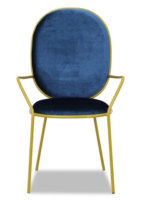 Masaru Chair in Dark Blue Velvet