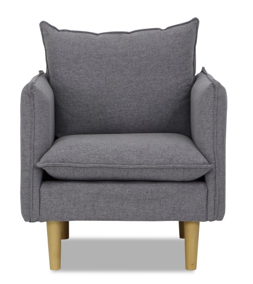 Stazy Arm Chair in Light Grey