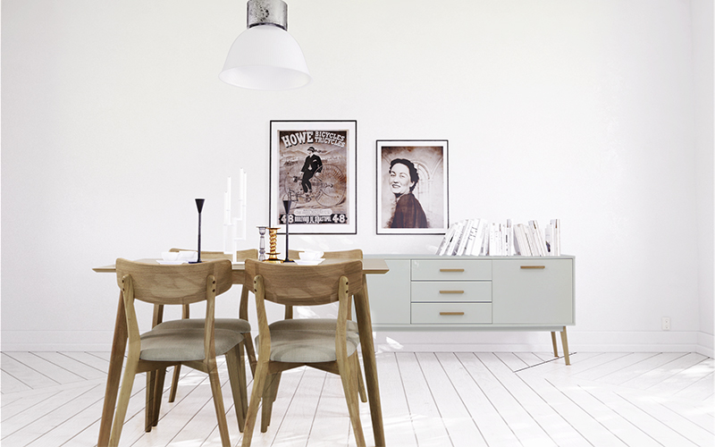 White Walled Dining
